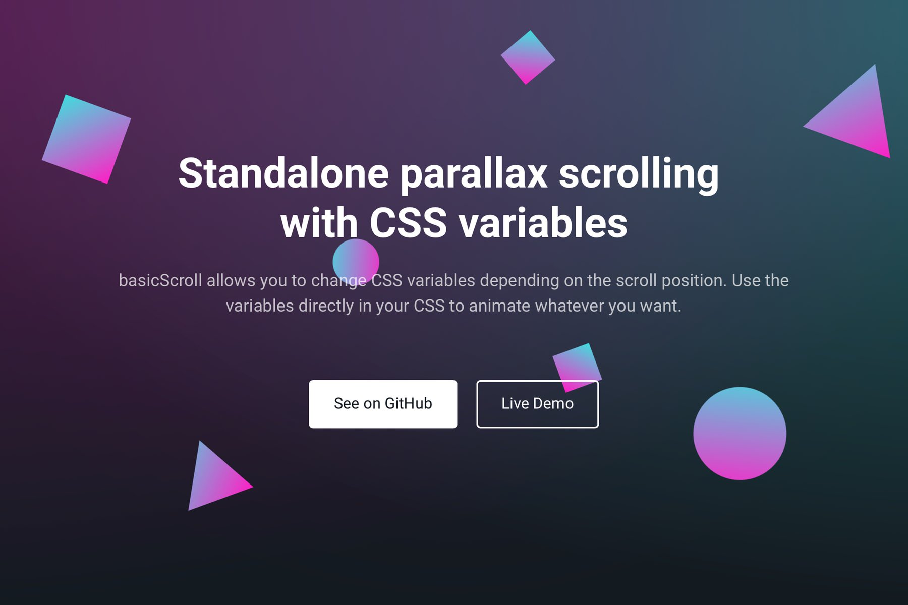 Parallax scrolling with CSS variables | basicScroll